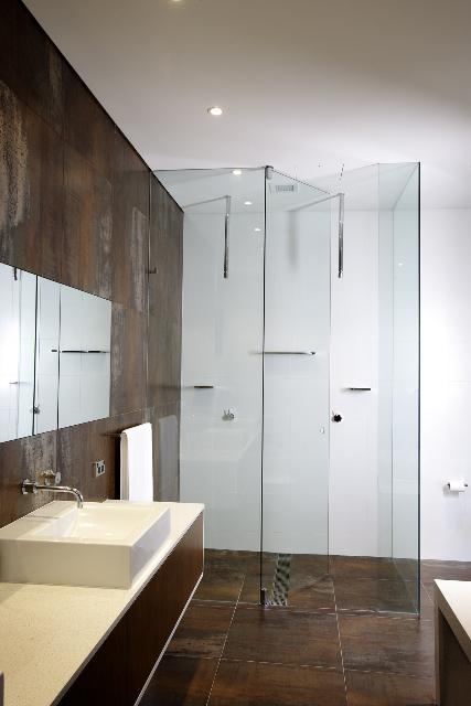 Ceiling Pivoted Frameless Hydro Shower Screen