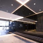 Grey Frameless Mirror for Lobby Area