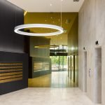 Frameless Super Gold Lobby Mirrors