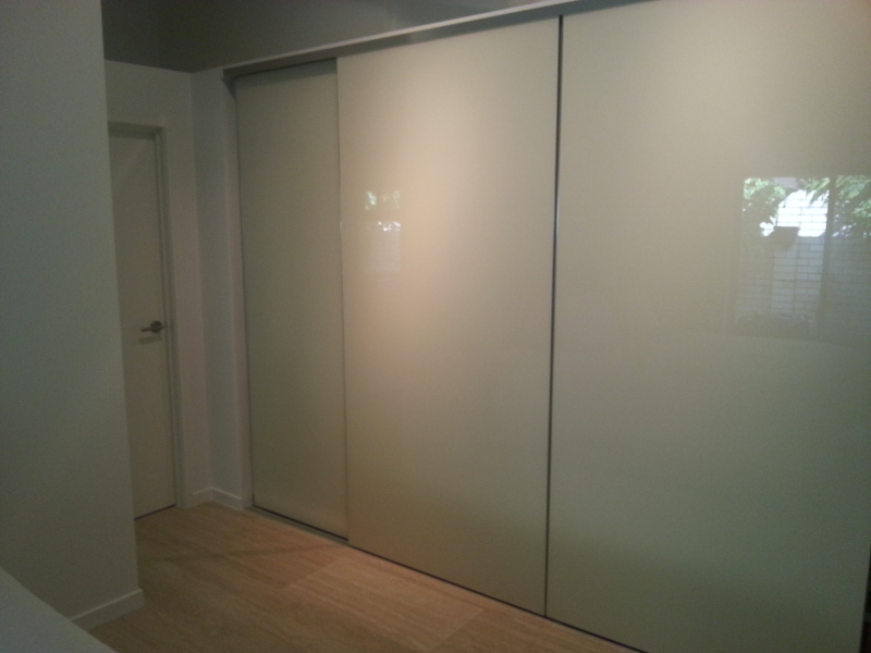 Sliding Painted Glass Wardrobe Doors