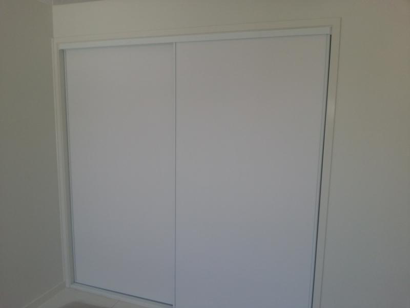 Framed White Vinyl Back Doors