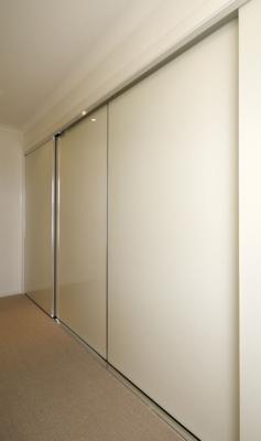 Frameless Sliding White Doors