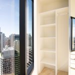 Built-in Wardrobe - Standard White Board Top Shelf & Shelving with a Chrome Hanging Rod