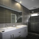 Frameless Vanity Mirror & Semi-Frameless Shower Screen