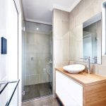 Frameless Shower Screen with Polished Silver Hinges & Shower Screen Knob