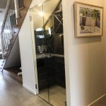 Wine Cellar - Frameless 10mm Glass Doors with Polished Silver Handles