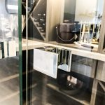 Wine Cellar - Frameless 10mm Glass Door with Polished Silver Handle