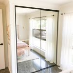 Frameless Mirror Robe Doors with Black Handles & Black Tracks