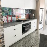 Clear Glass Splashback with Feature Behind (Civic manufactured & installed the Splashback)