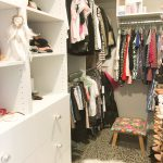 Built-In Wardrobe with Standard White Board Shelving & Drawers with Round Handles
