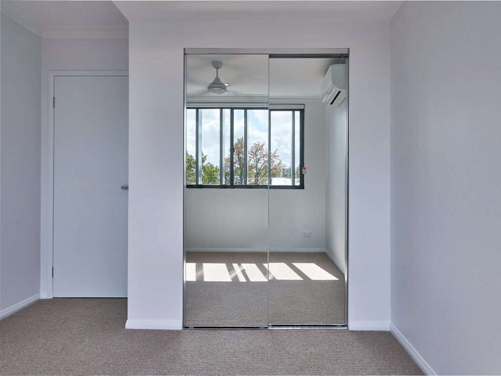 Mirror Robe Doors with Polished Silver Frame