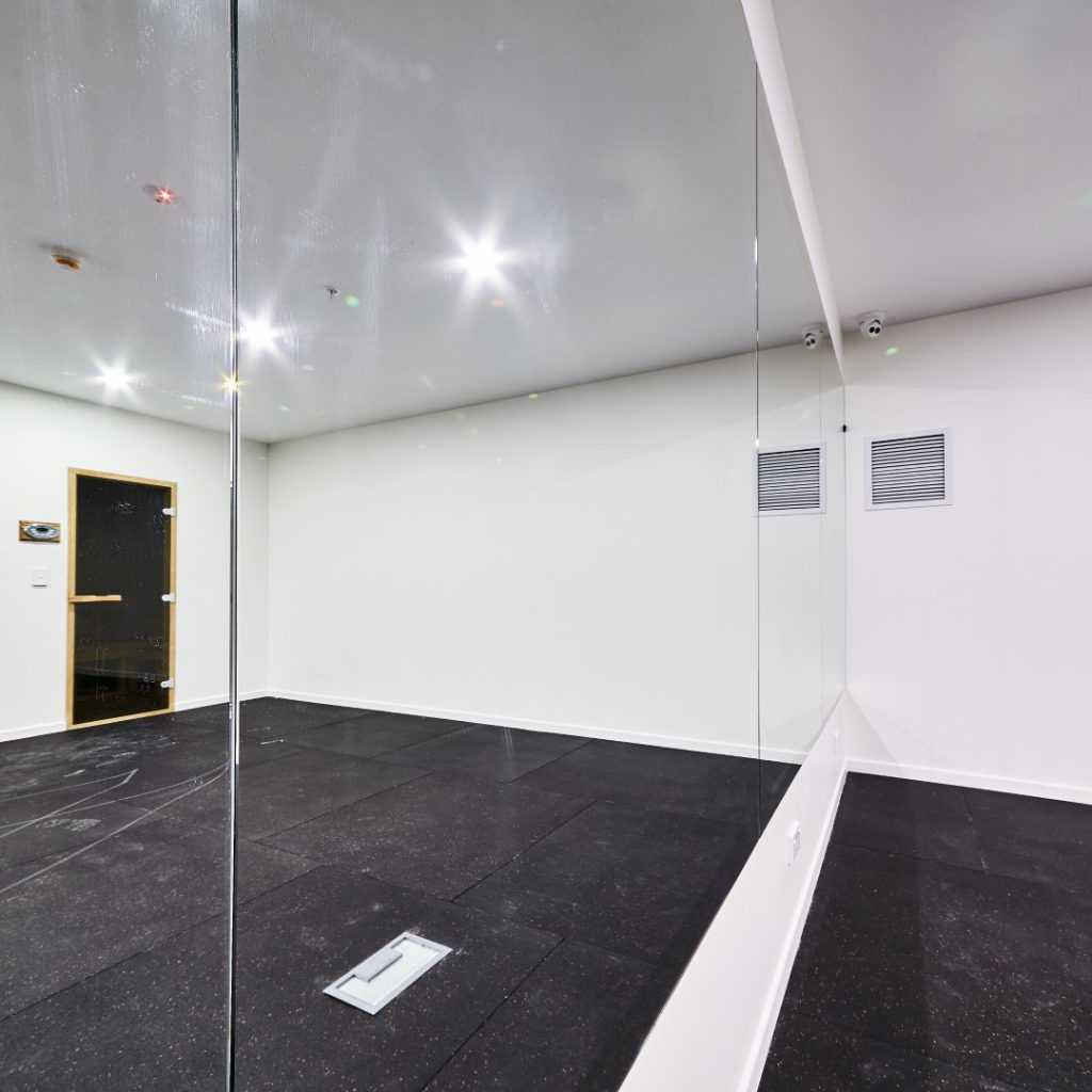 Frameless Mirrors which can be used in Gyms, Yoga Rooms, Foyers, and any other space you can think of