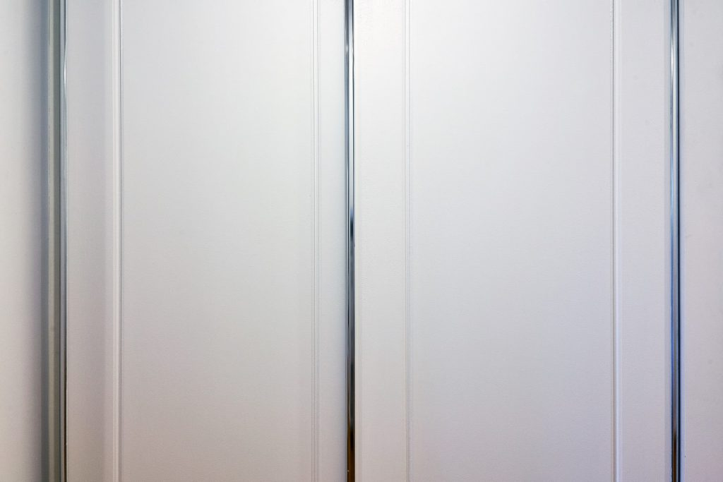 Colonial Robe Doors with Polished Silver Frame