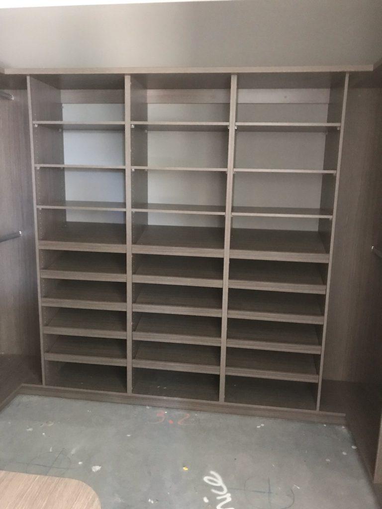 Built-In Wardrobe - Artisan Oak Matt Colour Board Shelving