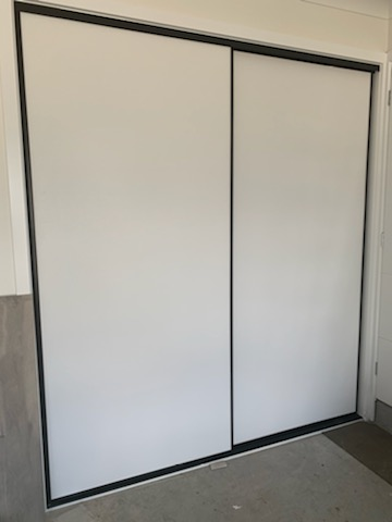 Glacier Robe Doors with Black Frame