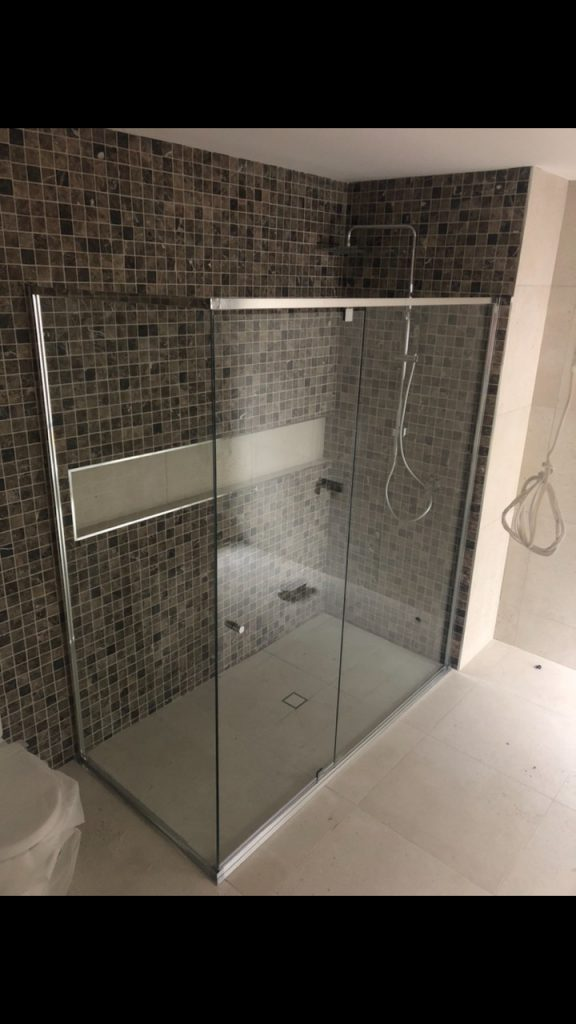 Semi-Frameless Shower Screen
