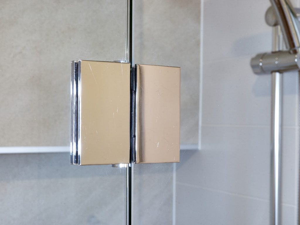 180 Degree Polished Silver Hinge for Fix & Swing Shower Screen